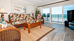 3 bedroom 2 bath Surfside 401 beach vacation condo is perfect for a relaxing week on the beach.