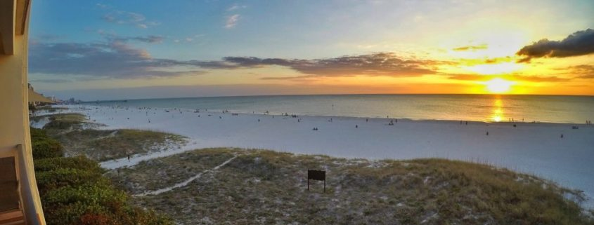 Clearwater Beach Sunset from Surfside Condos. https://beachresortcondos.com/index.php