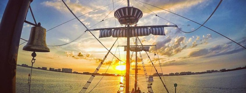 Clearwater Beach Family Activities - Captain Memo's Pirate Ship at Sunset