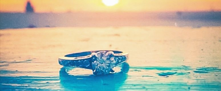Clearwater Beach Engagement Ring Photo