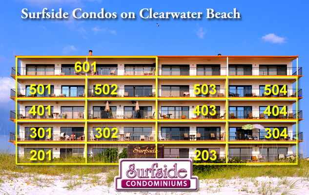 Unit 601 - Surfside Condos - 4 Bedroom, 3 Bath, Ocean View on Clearwater Beach