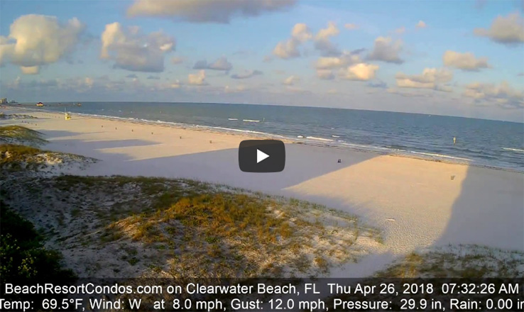 Clearwater Beach in April