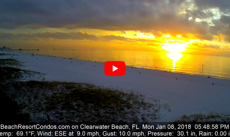 Clearwater Beach Sunset - January 8, 2018