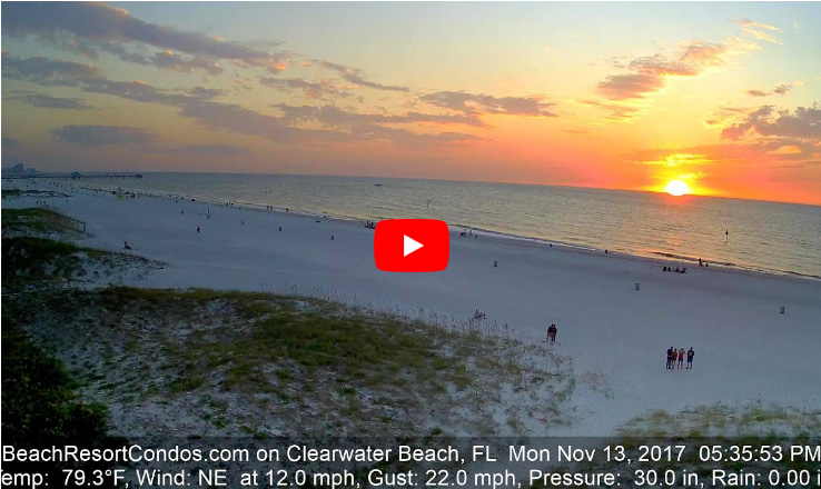 Clearwater Beach Sunset - November 13, 2017