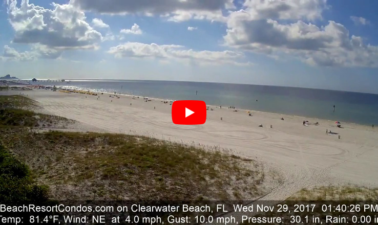 Clearwater Beach Time-Lapse - November 29, 2017