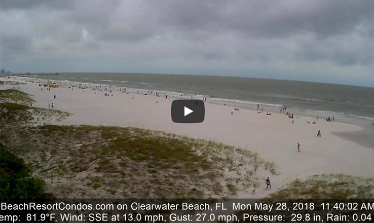 Subtropical Storm Alberto on Clearwater Beach