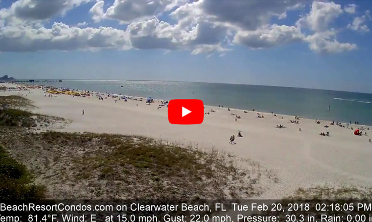 Warm February on Clearwater Beach, Florida