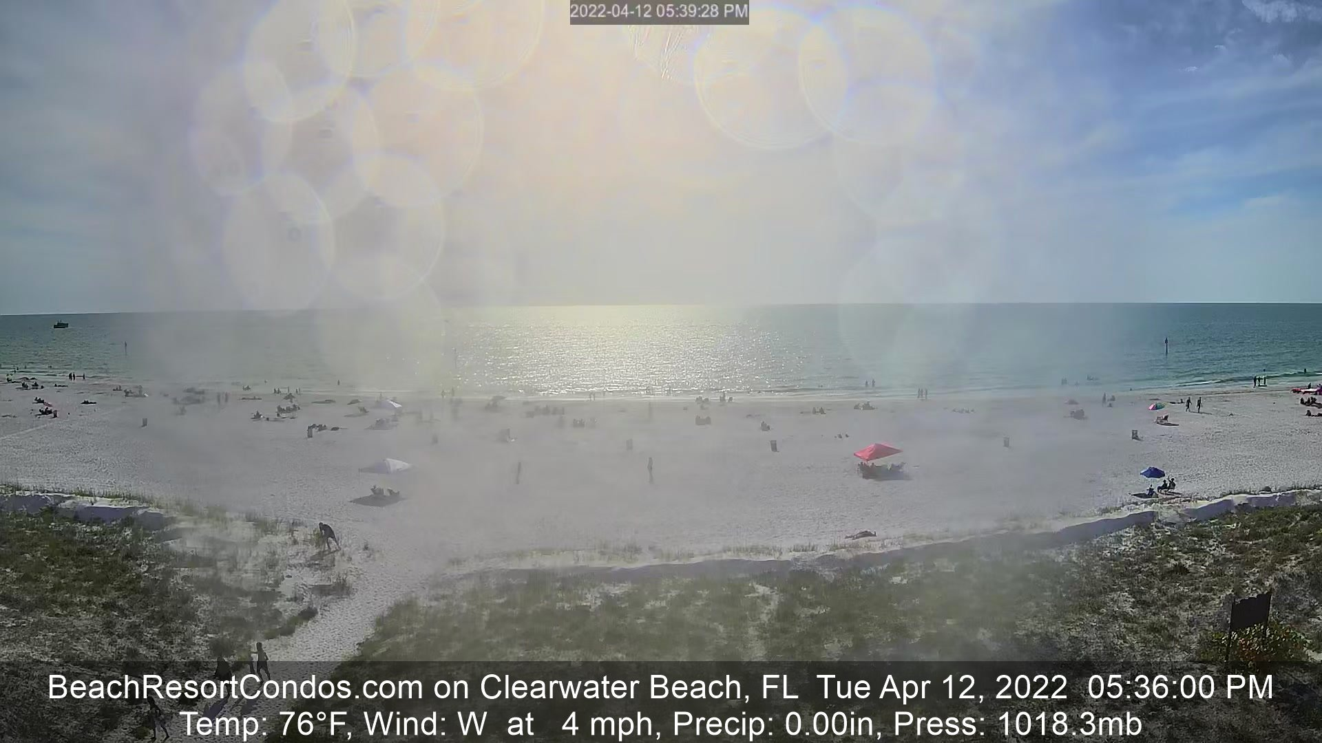 Clearwater Beach Live Streaming Beach Cam